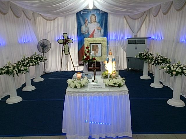 holy spirit bereavement memorial setup