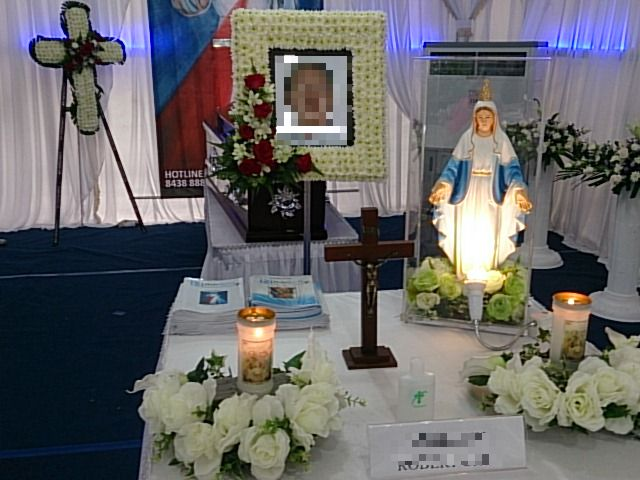 holy spirit bereavement memorial setup