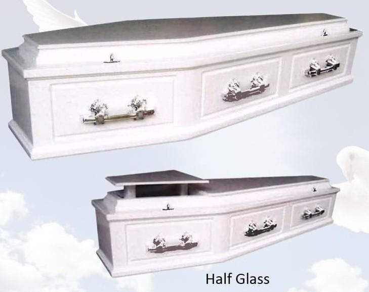 white-casket